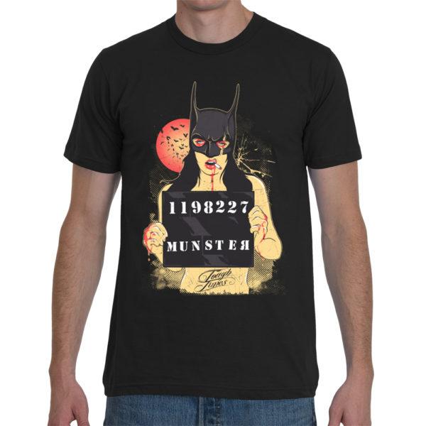 Elliz Clothing Batman mask Girl Mugshot T-Shirt men