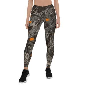 elliz clothing Aquatic bots pattern Leggings