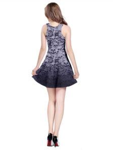 Elliz Clothing Gothic Skulls Reversible Purple Skater Dress