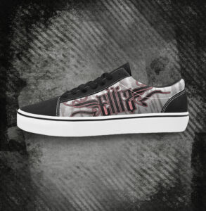 Elliz Clothing Rogue Pink and White Low Top Old School Skateboarding Sneakers