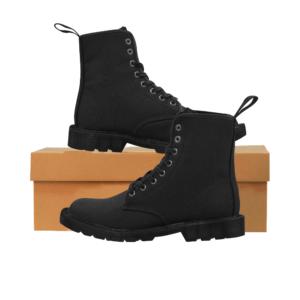 Elliz Clothing Solid Black Combat Martin Ankle Boots