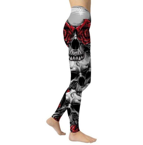 Hellraiser Skulls and Roses Skinny Leggings