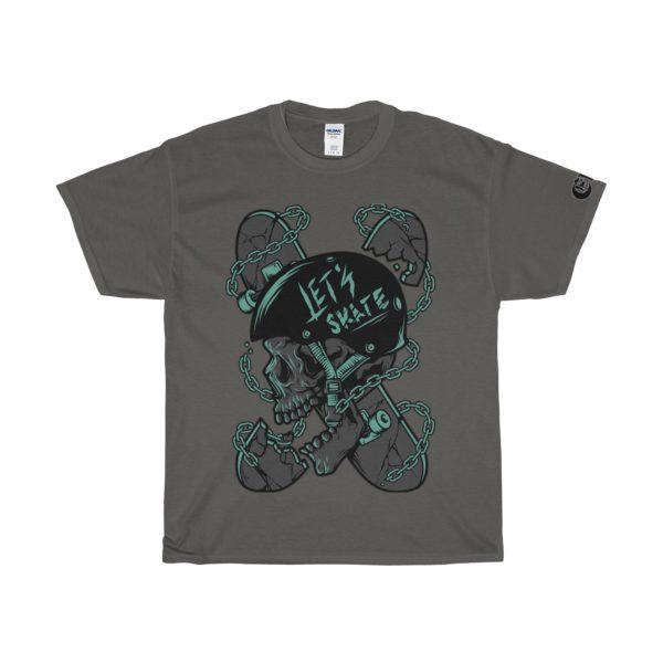 Elliz Clothing Let's Skateboarding T-Shirt - Skater Skull Graphic