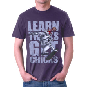 Elliz Clothing Skate Tricks Men's Astronaut T-Shirt Purple