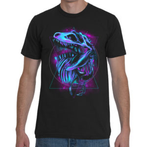 Mesozoic Era T-Rex Skeleton T-Shirt Black