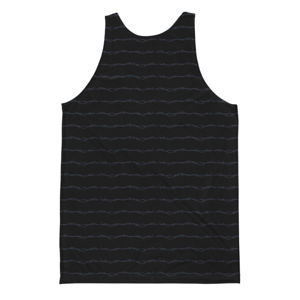 Elliz Barb Wire Striped Unisex Tank Top