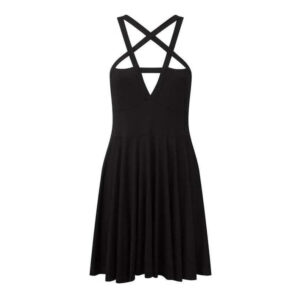 Elliz Clothing Crisscross Pentacle Gothic dress 01