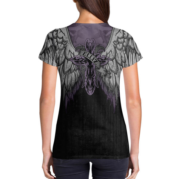 Elliz Clothing Purple Heart v-neck t-shirt