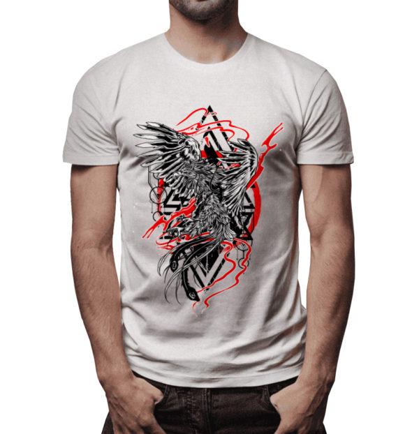 Elliz Clothing Raging Phoenix tattoo graphic T-shirt