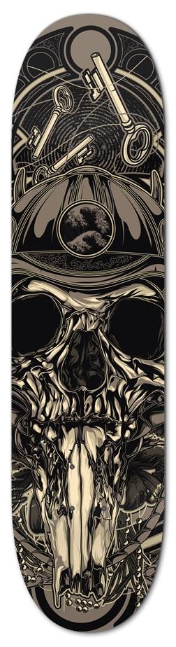 Elliz Clothing Samurai Skull Skateboard