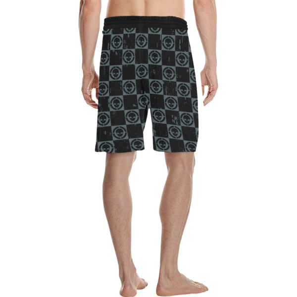 Elliz Clothing Skulls Checkers Pattern MMA Shorts