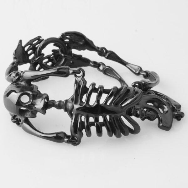 Elliz Clothing Stainless Steel Gothic Skeleton Bracelet 03
