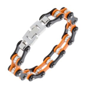 Elliz Clothing Stainless Steel Link Chain Biker Bracelet