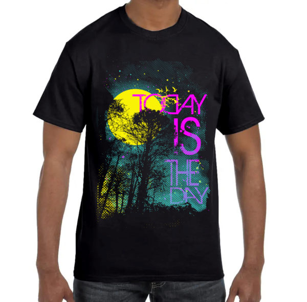 Elliz Clothing Today is the Day T-shirt Black