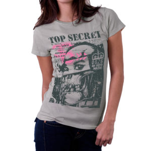 Elliz Clothing Women's Top Secret Skull Girl T-shirt