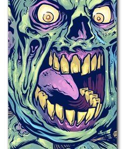 Elliz Clothing Zombie Heads Skateboard