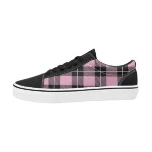 Pinklicious Sapatos de Skatista Rosas de Quadros