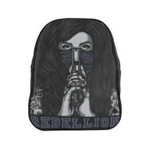 Rebellion Graphic Leather Backpack