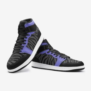 Elliz Clothing Purple Zebra Print Retro Basketball Sneakers