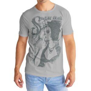 Elliz Clothing Catrina Camiseta masculina Dia de los Muertos