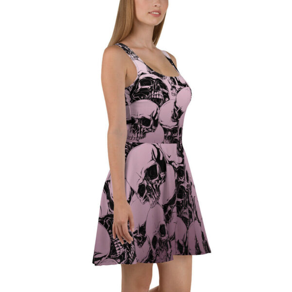 Elliz Clothing Purple Skulls Pastel Goth Skater Dress