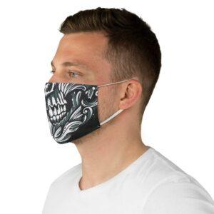 Elliz Clothing Ornamental Skull Graphic Fabric Face Mask